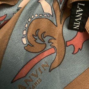Lanvin silk neck scarf